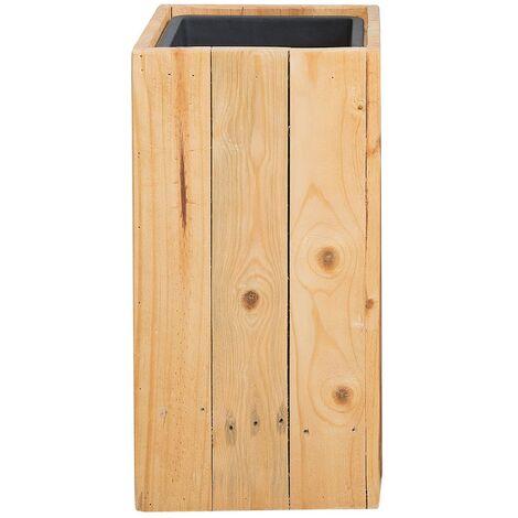 Maceta de madera 24x24x50 cm SYKIA