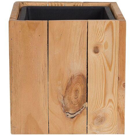 Maceta de madera 28x28x28 cm AKRINI