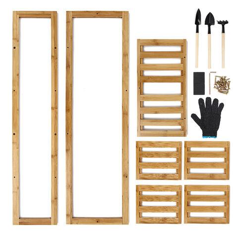 Maceta de madera de 5 niveles, soporte para plantas, estante, exhibición, decoración de jardín, estante interior Mohoo