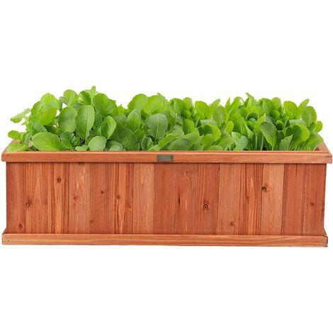 Maceta de Madera para Plantas Caja de Flores Soporte para Plantas para Macetas Jardín Balcón Patio Decorativas