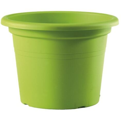 Maceta de plástico Iniezione - verde 25 x 18 cm