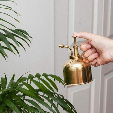 Maceta en aerosol para jardinería, regadera de latón vintage, regadera mini para plantas suculentas con riego por bomba