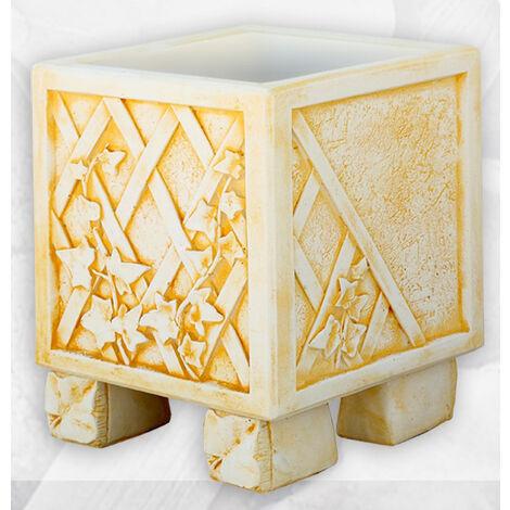 MACETA hormigón-piedra CUADRADA OTOÑO 30x30x30cm. Disponible en varios colores.