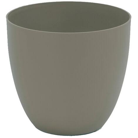 Maceta inyeccion cuenco ø26cm color gris topo EDM 74929