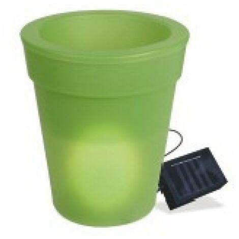 Maceta jard h19,5cm solar natuur pp ver led b/rec nt95413