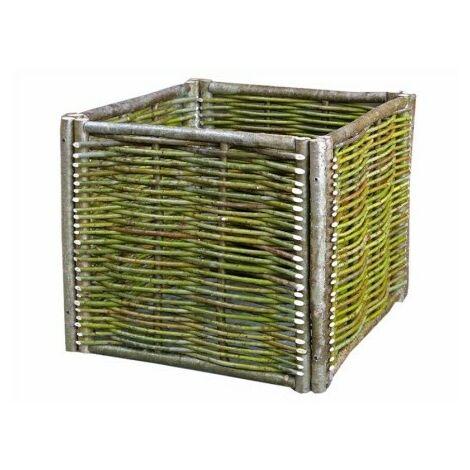 Maceta Jardin 60X60X30Cm Madera Natural Silvestre