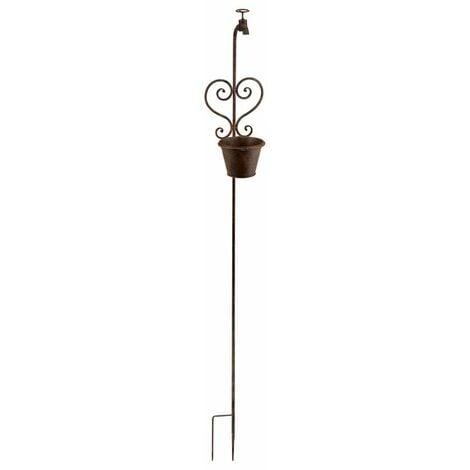 Maceta piqueta decorativa de metal/forja