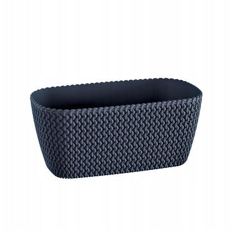 Maceta rectangular 7,4L Prosperplast Splofy de plastico en color antracita, 39,7 (largo) x 18 (ancho) x 14,5 (alto) cms