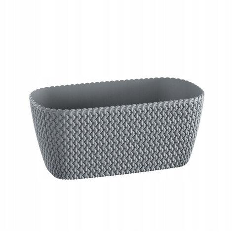 Maceta rectangular 7,4L Prosperplast Splofy de plastico en color gris, 39,7 (largo) x 18 (ancho) x 14,5 (alto) cms