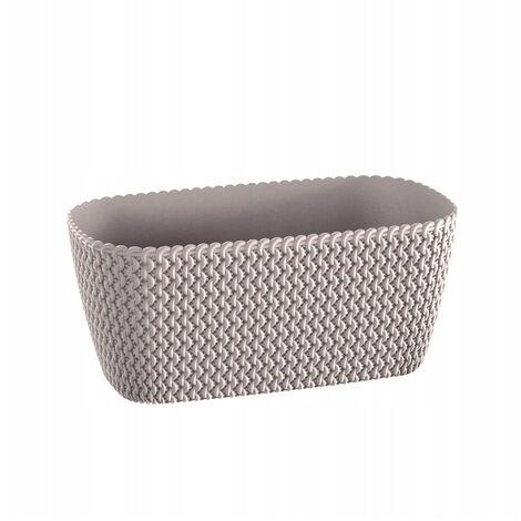 Maceta rectangular 7,4L Prosperplast Splofy de plastico en color mocca, 39,7 (largo) x 18 (ancho) x 14,5 (alto) cms
