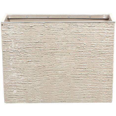 Maceta rectangular beige 25x60x45 cm EDESSA