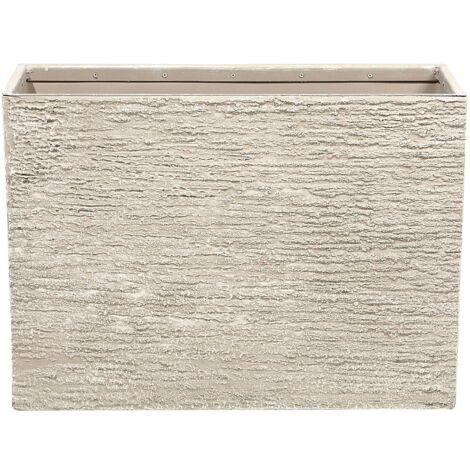 Maceta rectangular beige 29x70x50 cm EDESSA