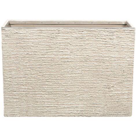 Maceta rectangular beige 34x80x56 cm EDESSA