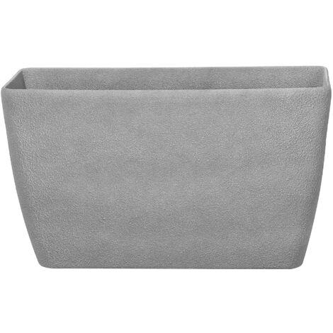 Maceta rectangular gris 74x32x45 cm BARIS