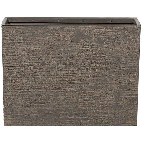 Maceta rectangular marrón oscuro 25x60x45 cm EDESSA