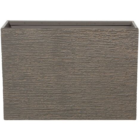 Maceta rectangular marrón oscuro 34x80x56 cm EDESSA