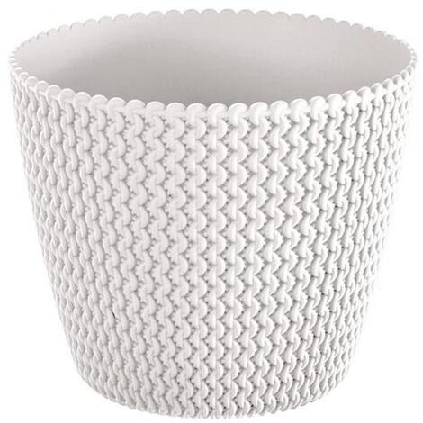 Maceta redonda 18,6L Prosperplast Splofy de plastico en color blanco, Ø34,1 x 28,9 cm