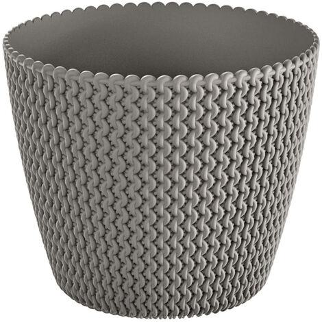 Maceta redonda 18,6L Prosperplast Splofy de plastico en color gris, Ø34,1 x 28,9 cm