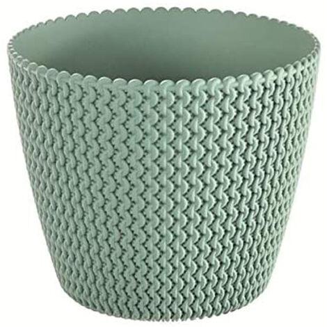 Maceta redonda 5L Prosperplast Splofy de plastico en color menta, Ø21,8 x 18,4 cm