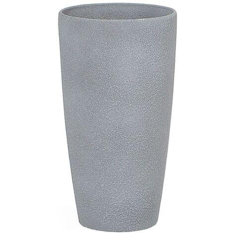 Maceta redonda gris 23x23x42 cm ABDERA