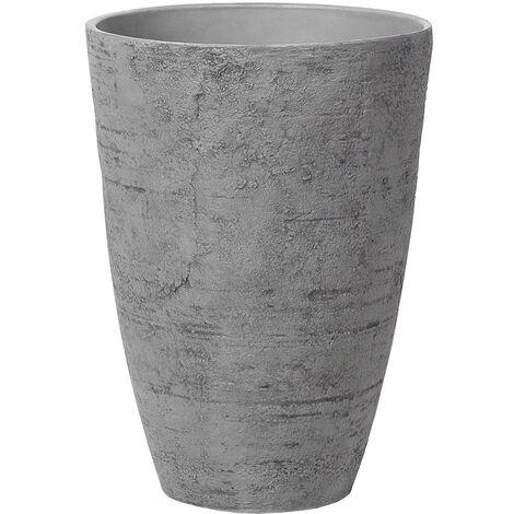 Maceta redonda gris 43x43x60 cm CAMIA