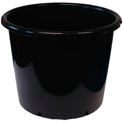 Maceta Redonda Negra Grande. Plástico Inyectado. 36 X 29,5 Cm. 20 L