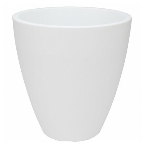 Macetero conico 39x41 cm blanco