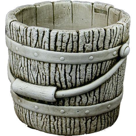Macetero Cubo hormigón-piedra exterior 33x29cm.