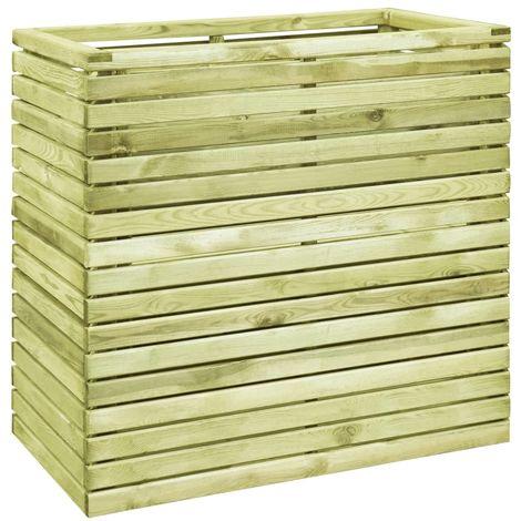 Macetero de madera de pino impregnada 100x50x100 cm