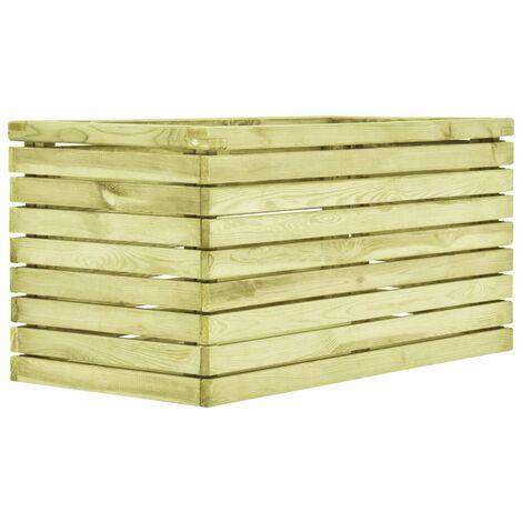 Macetero de madera de pino impregnada 100x50x50 cm