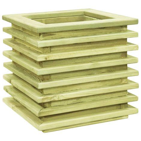 Macetero de madera de pino impregnada 50x50x40 cm