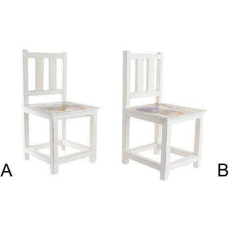 Macetero de madera - Modelo silla (25x25x47 cm) B