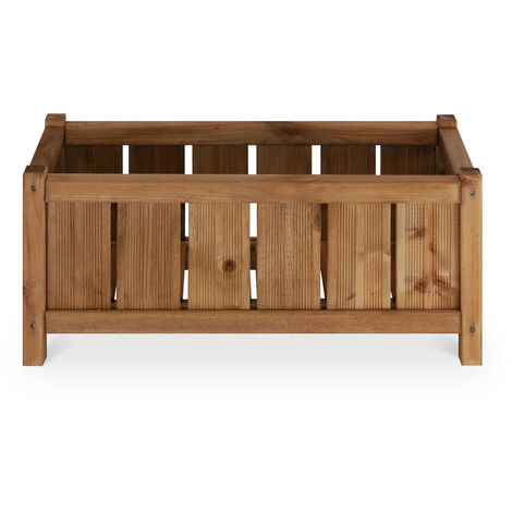Macetero de madera rectangular - GIRON