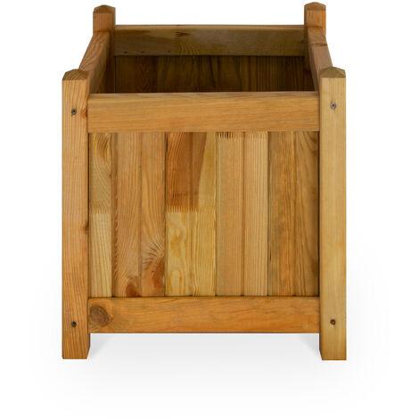 Macetero de madera - ROSAS 45x45cm