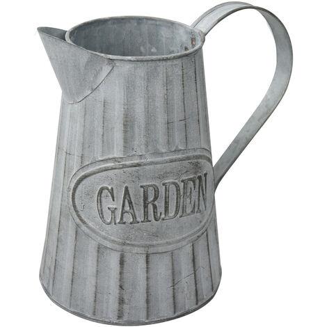 """Macetero Decorativo Vintage de Metal para Interior/Exterior. Original en forma de Regadera, """"Garden"""" 20x9x19 cm - Hogar y Más"""
