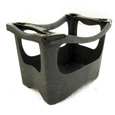 Macetero huerto urbano Eco, Color Negro, de Plástico Reciclado, Resistente, con Asas, Fácil Montaje/Manipulación, Apilable