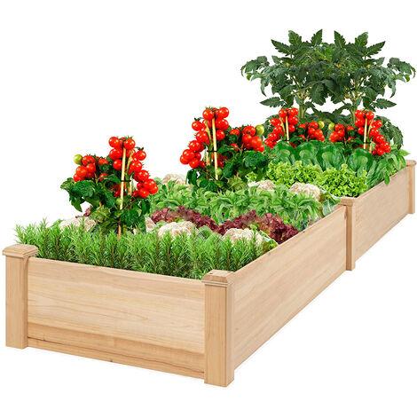 Macetero Jadinero Cuadrado 81.5x81.5x26cm, Madera, Protección de Plantas Vegetales Flores, Herramienta Auxiliar de Jardinería