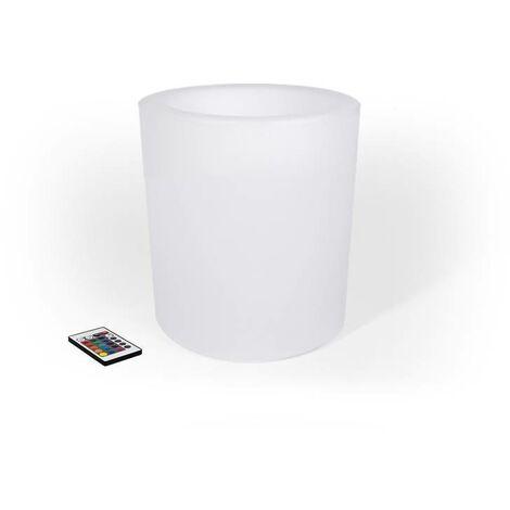 Macetero LED RGBW de Resina Blanca, 40x40cm, 5W, IP65