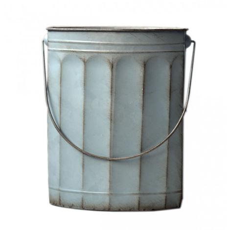Macetero original de metal pátina azul con asa en 2 tamaños Home Garden - Hogar y Mas Pequeño