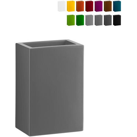 Macetero rectangular de diseño moderno BASE POT 40 Slide