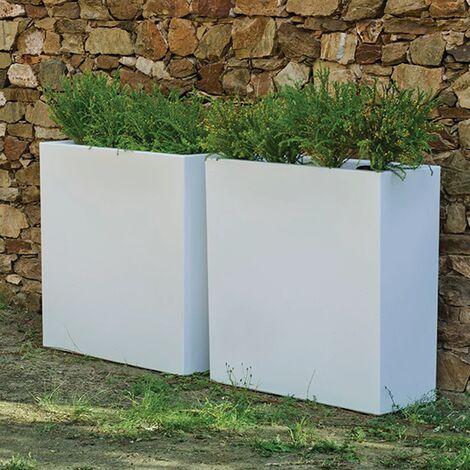 Macetero rectangular Hight MOOVERE 80 Blanco