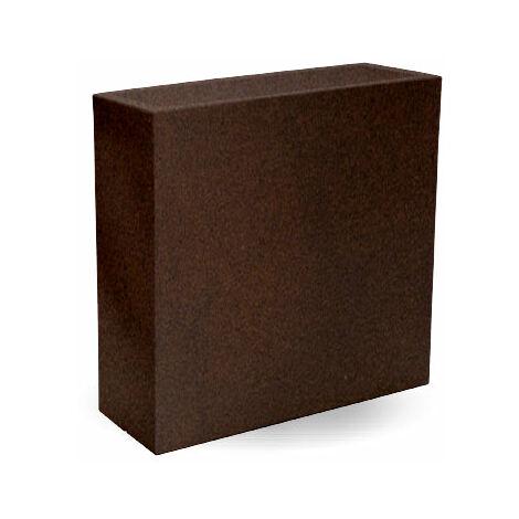 Macetero rectangular Hight MOOVERE 80 Bronce