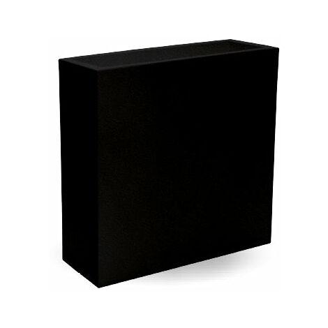Macetero rectangular Hight MOOVERE 80 Negro