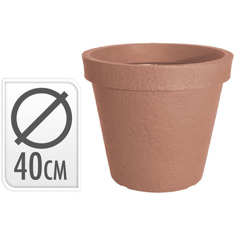 Macetero Resina 40 Cm. Terracota