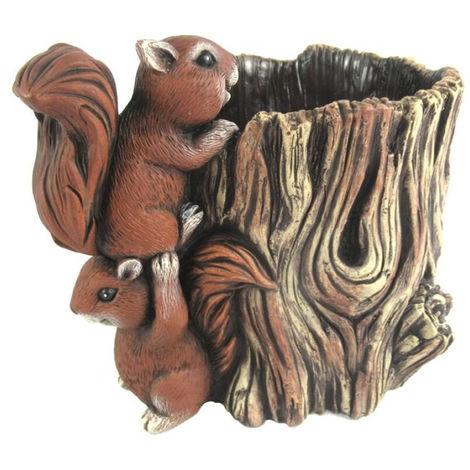 Macetero tronco 2 ardillas