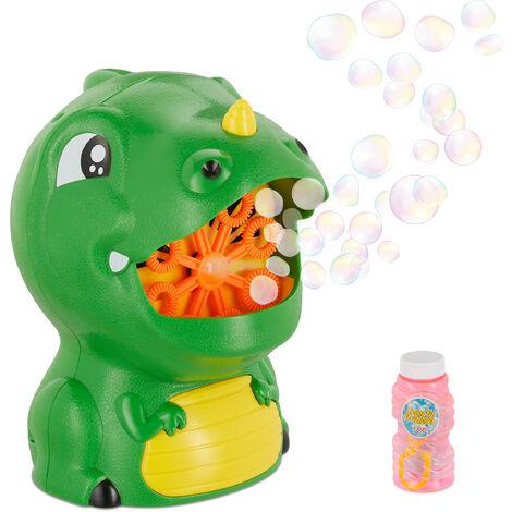 """main image of """"Machine à bulles, dragon, pour enfant, fonctionne à piles, avec liquide pour bulles de savon, extérieur, verte"""""""