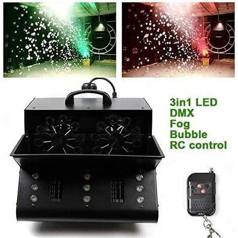 """main image of """"Machine à bulles LED 3 en 1 - RVB Fog Bubble - Machine à bulles DMX 512 DJ - Effet stage - Avec télécommande sans fil"""""""