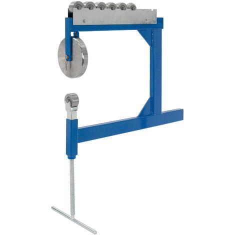 """main image of """"Machine à étirer rouleaux roue anglaise plier la tôle plieuse métaux bleu acier"""""""