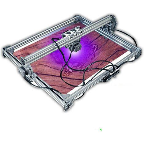 """main image of """"Machine à graver laser de bureau - 12 V - Pour cuir et bois - 65 x 50 cm - 3000 mW - Marquage du logo d'imprimante DIY"""""""