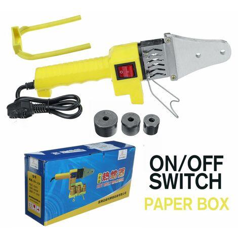 Machine à outils de soudage de tuyaux de chauffage électrique automatique 800 W adaptée pour Tube PB PPR PE PP (bo?te de papier avec interrupteur marche / arrêt)